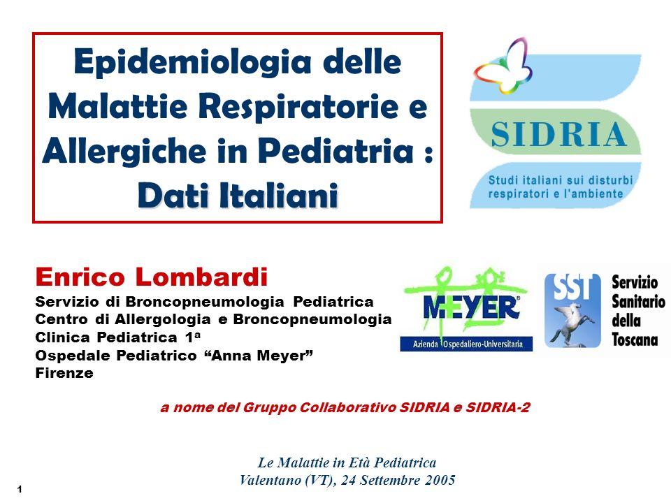 Le Malattie in Età Pediatrica Valentano (VT), 24 Settembre 2005