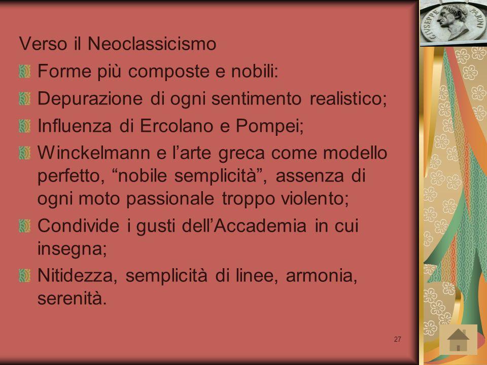 Verso il Neoclassicismo