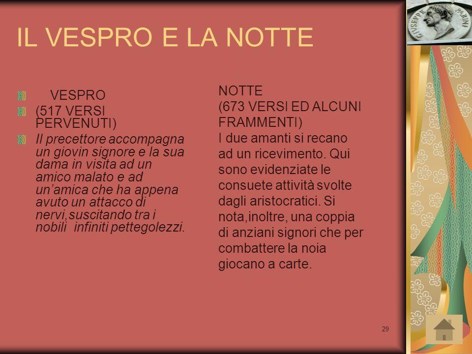 IL VESPRO E LA NOTTE NOTTE VESPRO (673 VERSI ED ALCUNI FRAMMENTI)