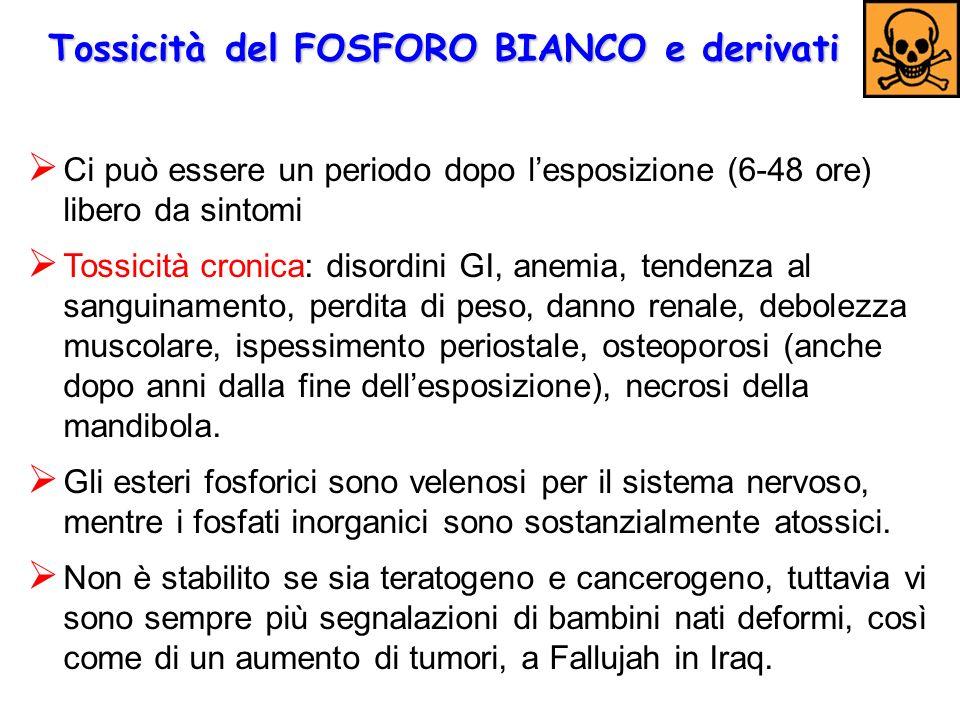 Tossicità del FOSFORO BIANCO e derivati
