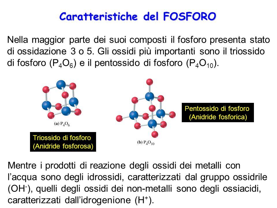 Caratteristiche del FOSFORO