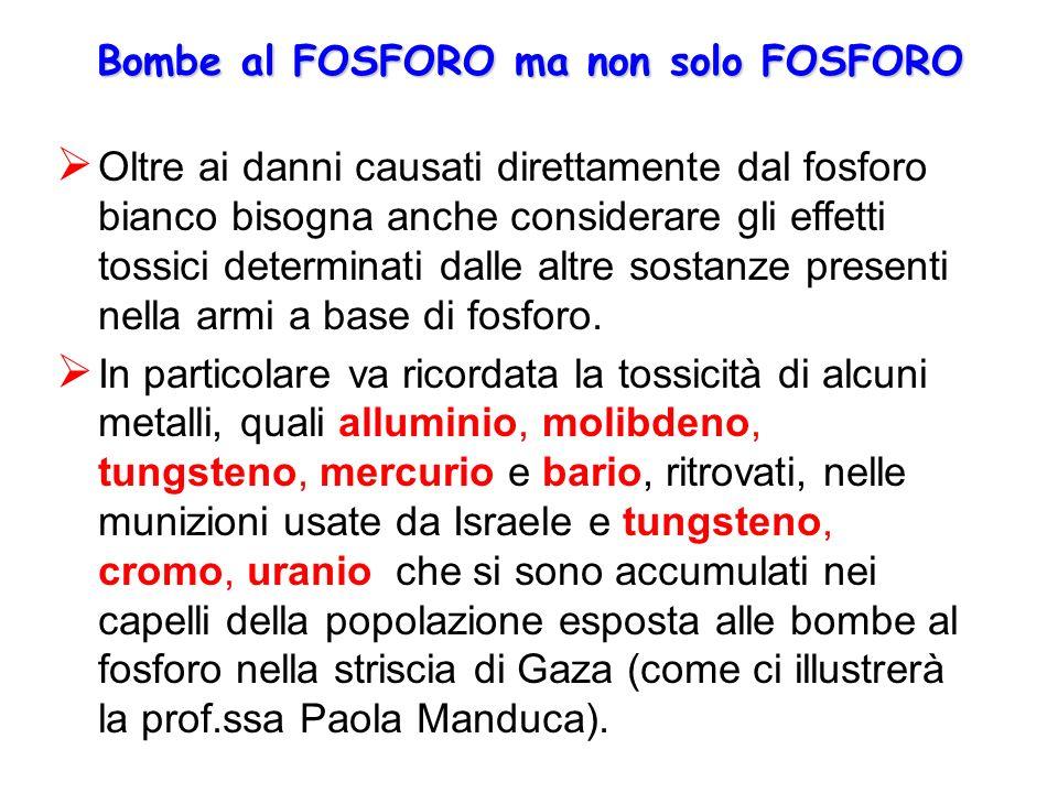 Bombe al FOSFORO ma non solo FOSFORO