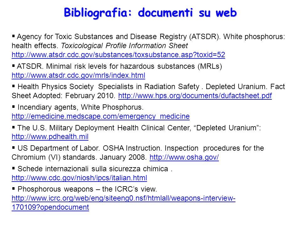 Bibliografia: documenti su web
