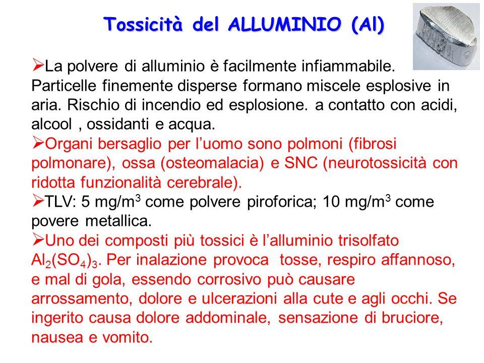 Tossicità del ALLUMINIO (Al)