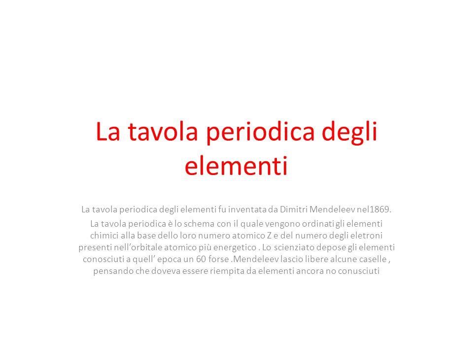 La tavola periodica degli elementi ppt video online - Tavola periodica degli elementi spiegazione semplice ...