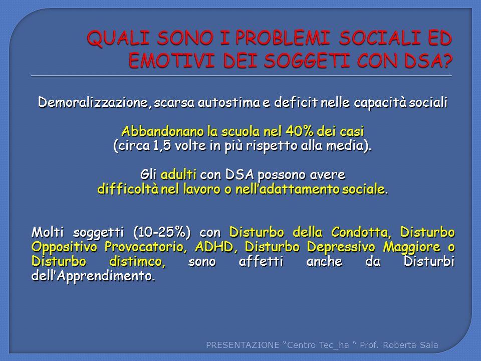 QUALI SONO I PROBLEMI SOCIALI ED EMOTIVI DEI SOGGETI CON DSA