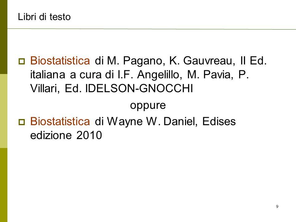 Biostatistica di Wayne W. Daniel, Edises edizione 2010