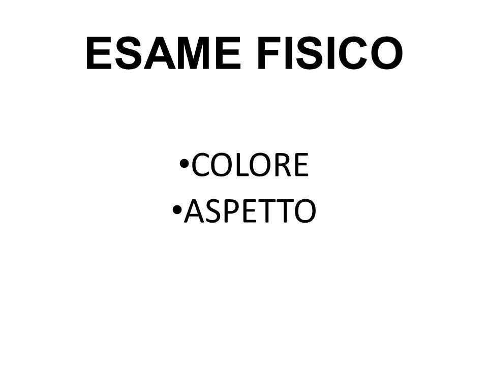 ESAME FISICO COLORE ASPETTO