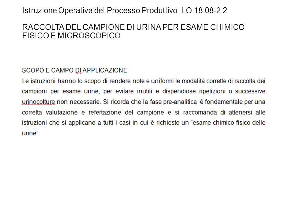 Istruzione Operativa del Processo Produttivo I. O. 18. 08-2