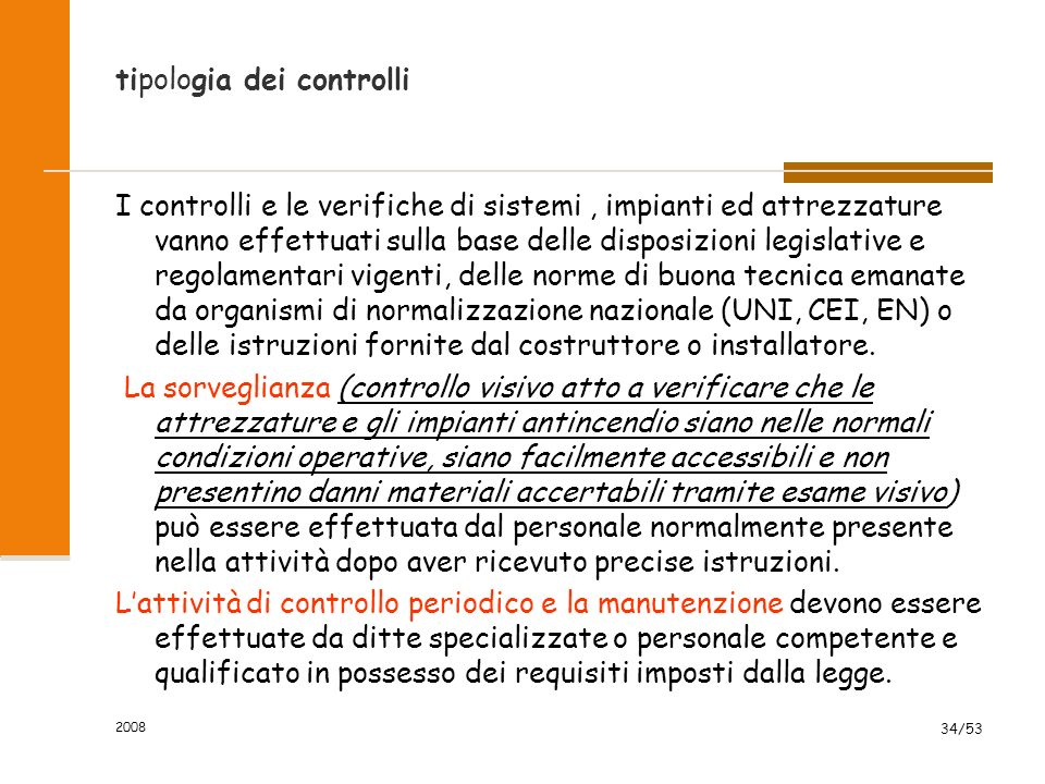 tipologia dei controlli