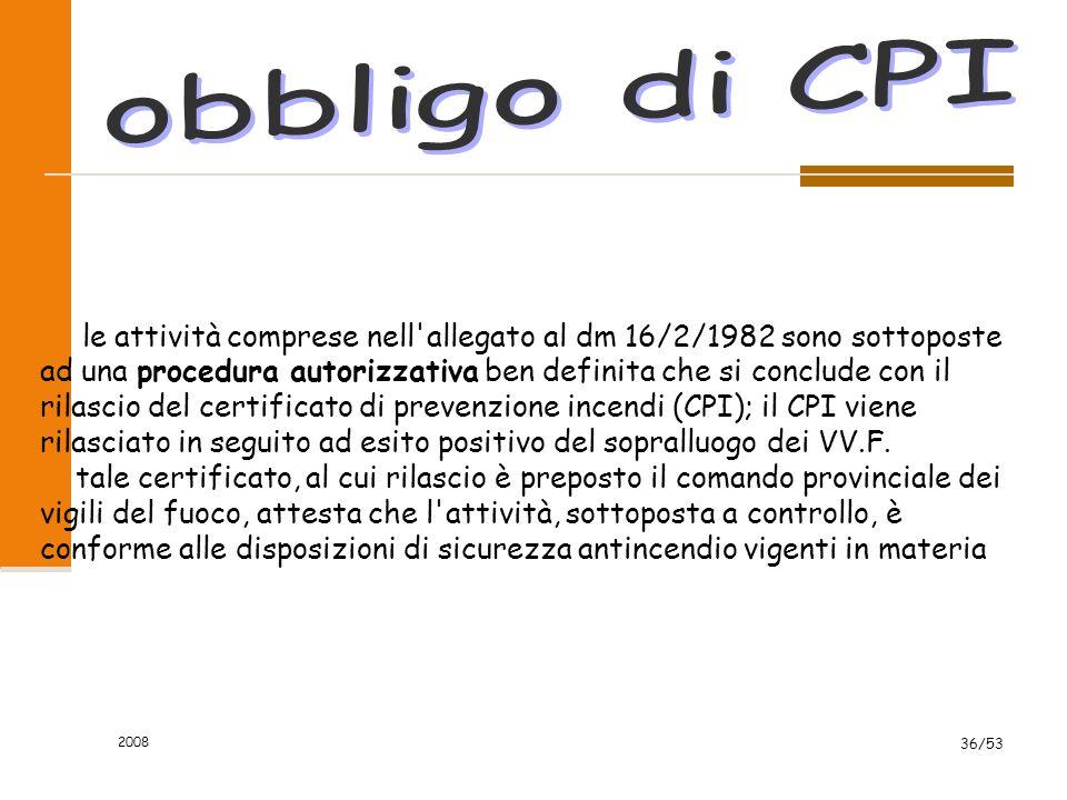 obbligo di CPI