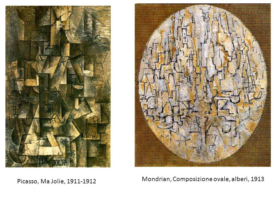 Mondrian, Composizione ovale, alberi, 1913