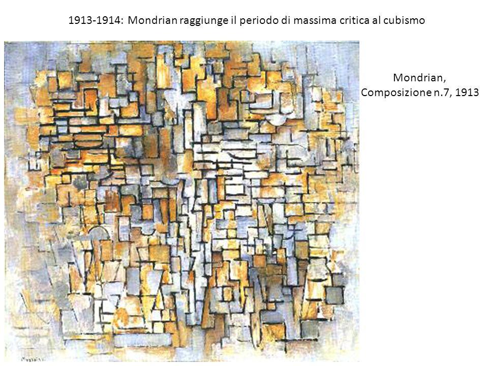1913-1914: Mondrian raggiunge il periodo di massima critica al cubismo