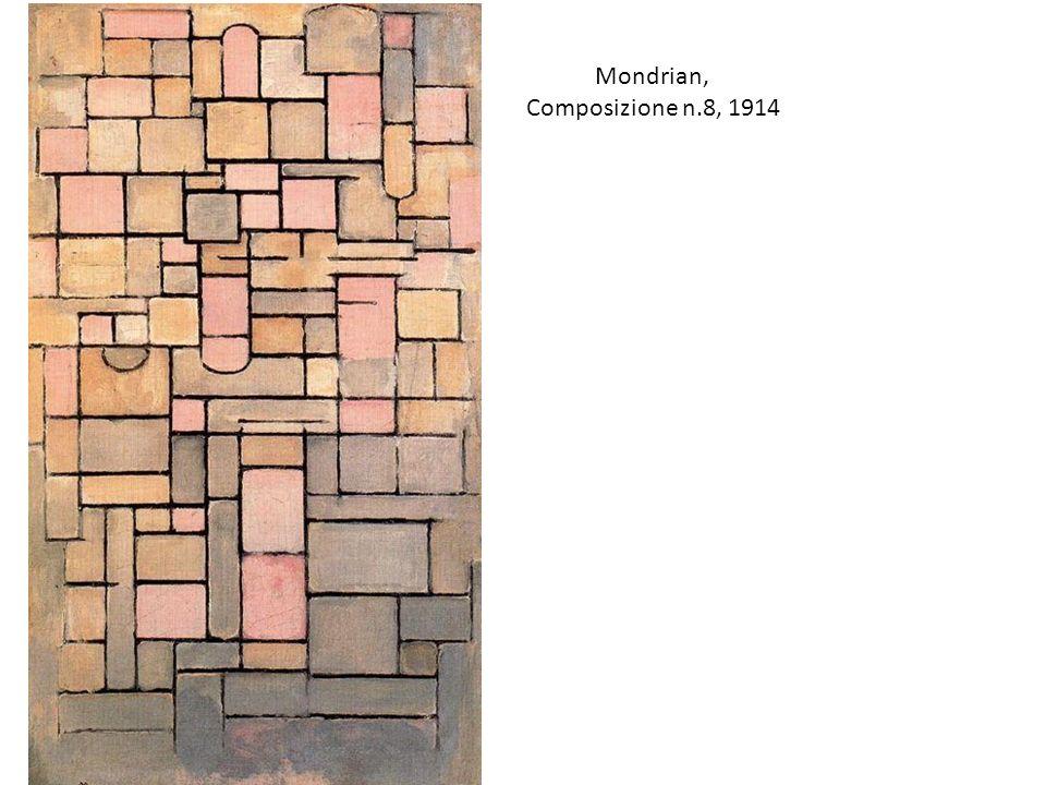 Mondrian, Composizione n.8, 1914 Sempre più verso l'astrazione….