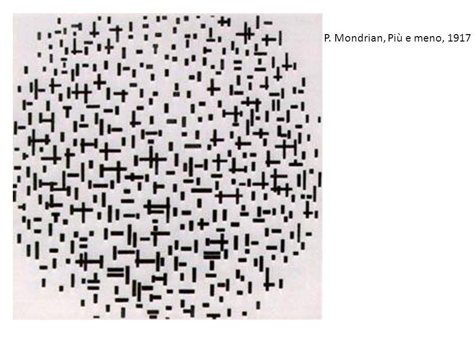 P. Mondrian, Più e meno, 1917 -Si giunge alla massima astrazione del RETICOLO CUBISTA rendendolo unico soggetto.