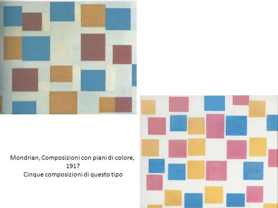 Mondrian, Composizioni con piani di colore, 1917