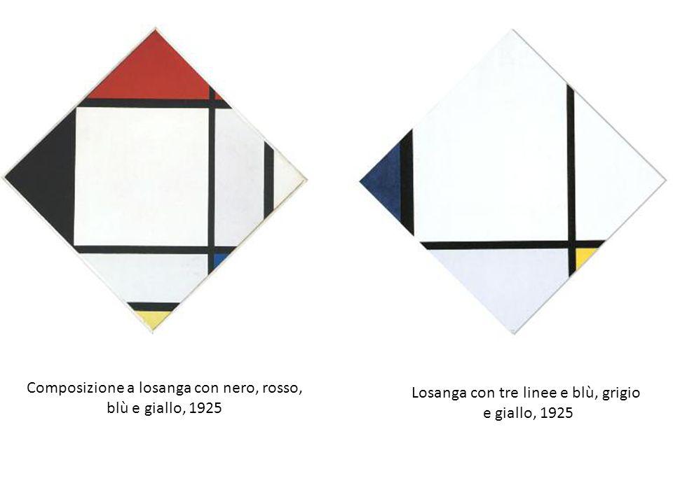 Composizione a losanga con nero, rosso, blù e giallo, 1925