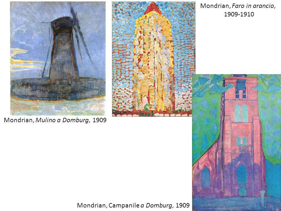 Mondrian, Faro in arancio,