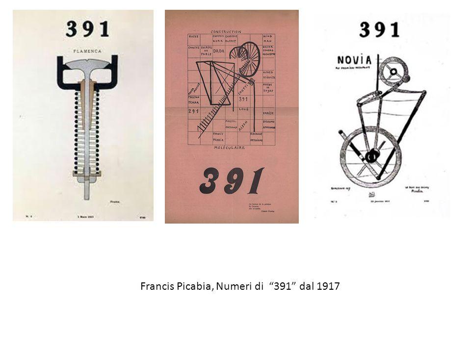 Francis Picabia, Numeri di 391 dal 1917