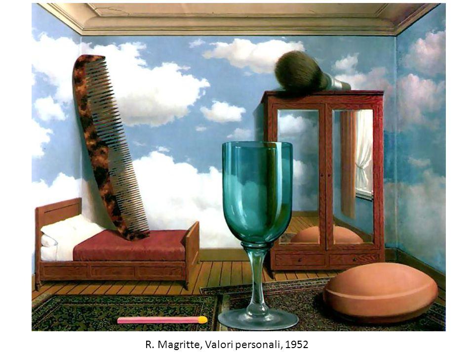 R. Magritte, Valori personali, 1952