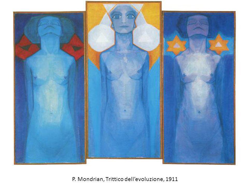 P. Mondrian, Trittico dell'evoluzione, 1911