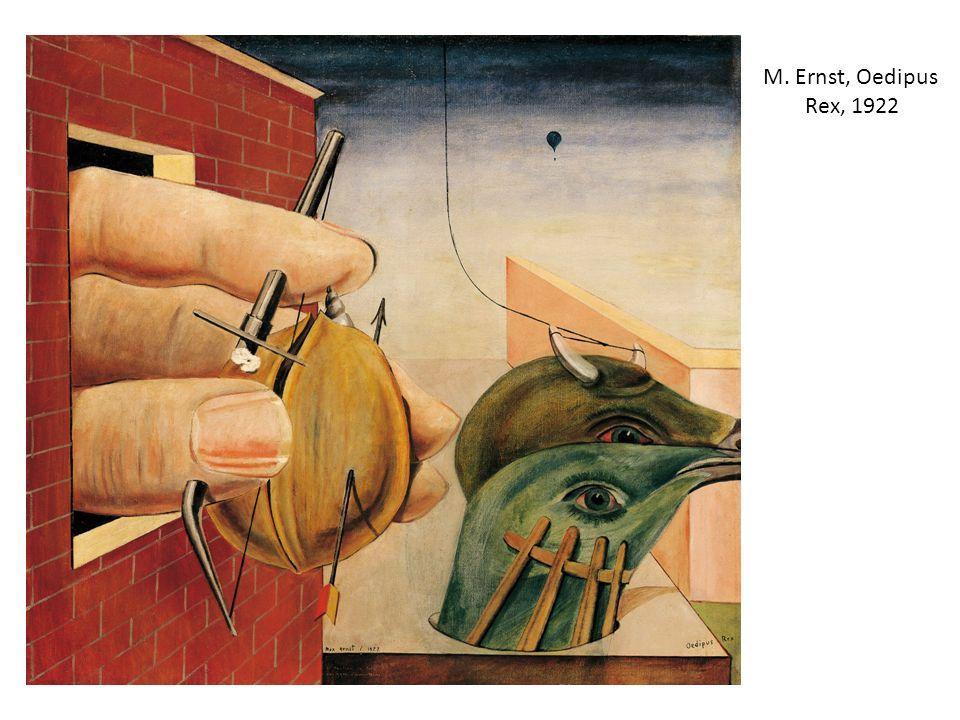 M. Ernst, Oedipus Rex, 1922 Tutti elementi della tragedia