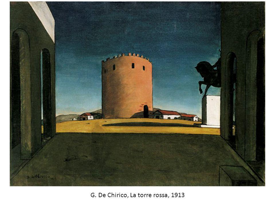 G. De Chirico, La torre rossa, 1913