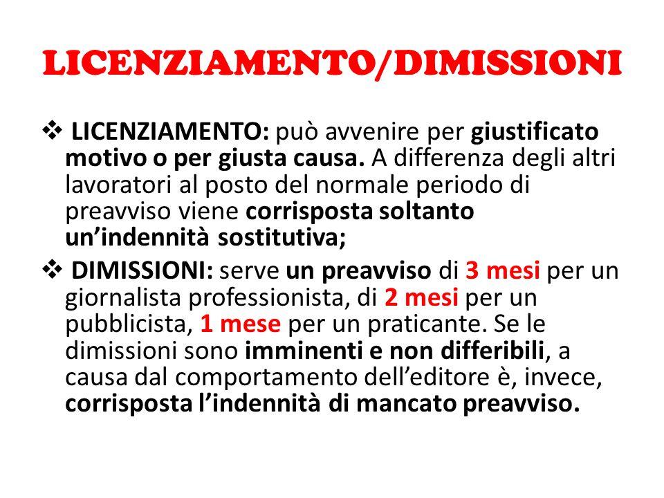 LICENZIAMENTO/DIMISSIONI
