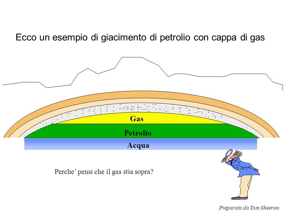 Ecco un esempio di giacimento di petrolio con cappa di gas