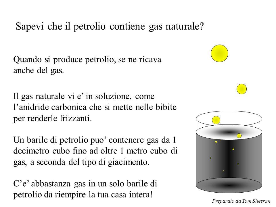 Sapevi che il petrolio contiene gas naturale