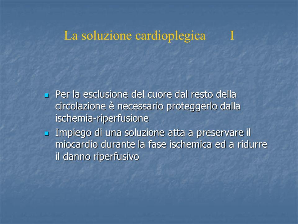 La soluzione cardioplegica I