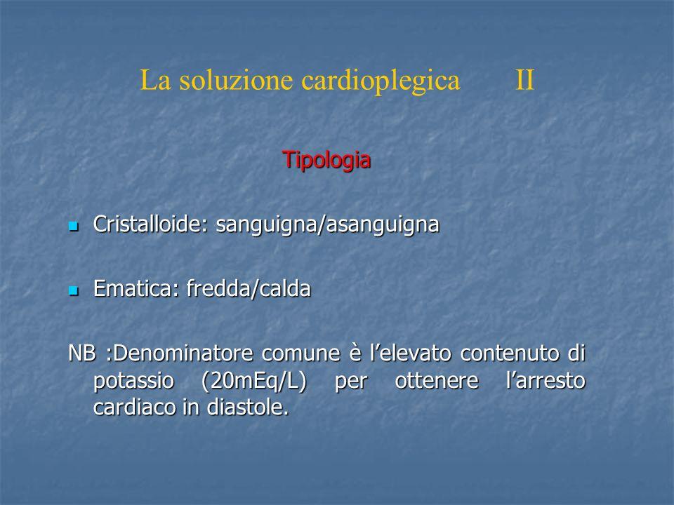 La soluzione cardioplegica II