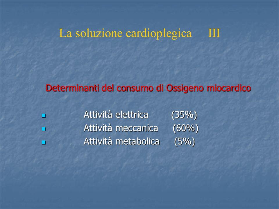 La soluzione cardioplegica III