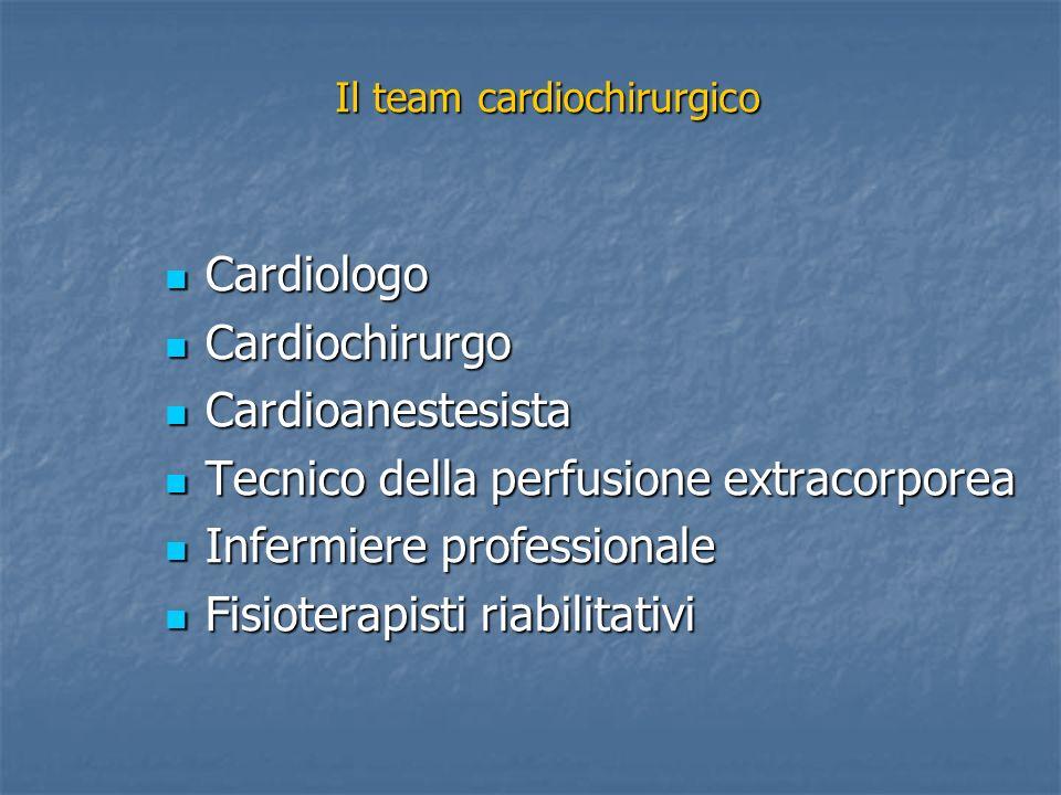 Il team cardiochirurgico