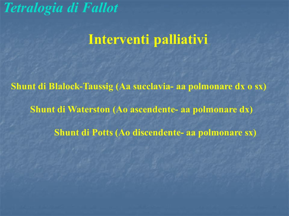 Interventi palliativi