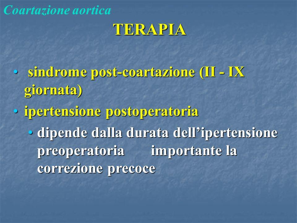 sindrome post-coartazione (II - IX giornata)