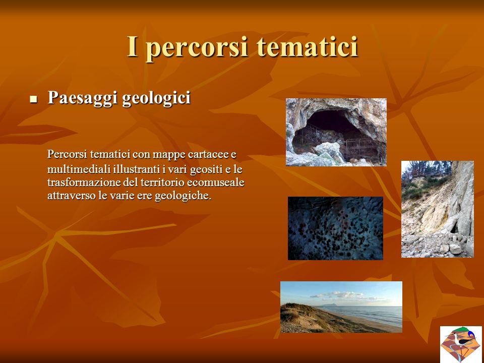 I percorsi tematici Paesaggi geologici.