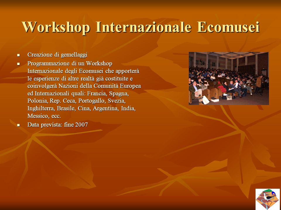 Workshop Internazionale Ecomusei