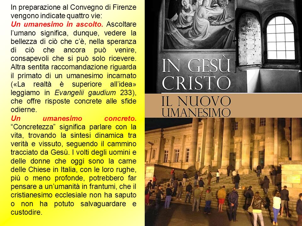 In preparazione al Convegno di Firenze vengono indicate quattro vie: