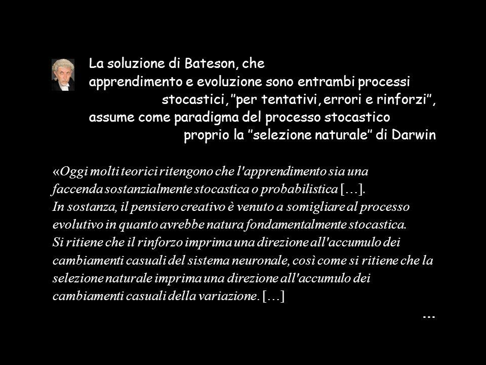 La soluzione di Bateson, che
