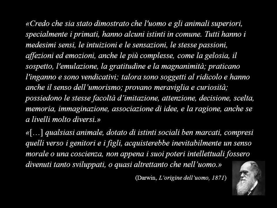 (Darwin, L'origine dell'uomo, 1871)