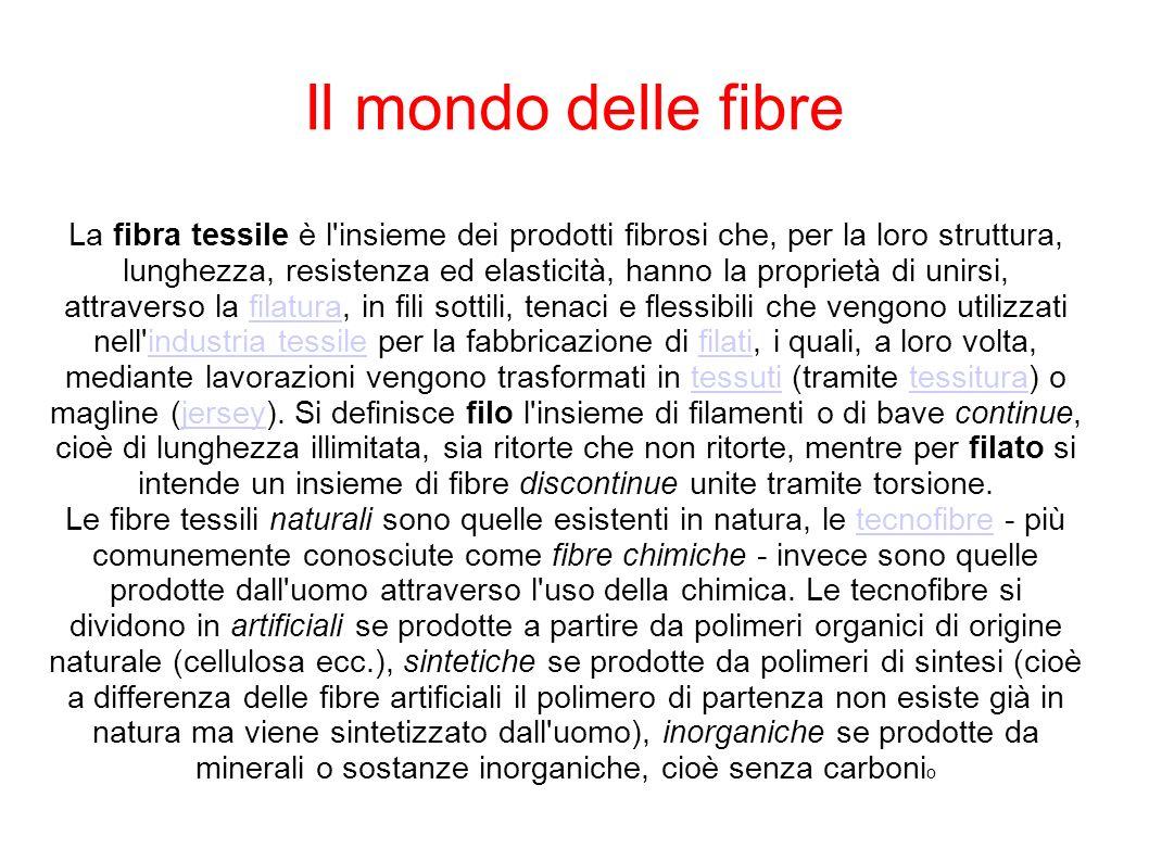 Il mondo delle fibre