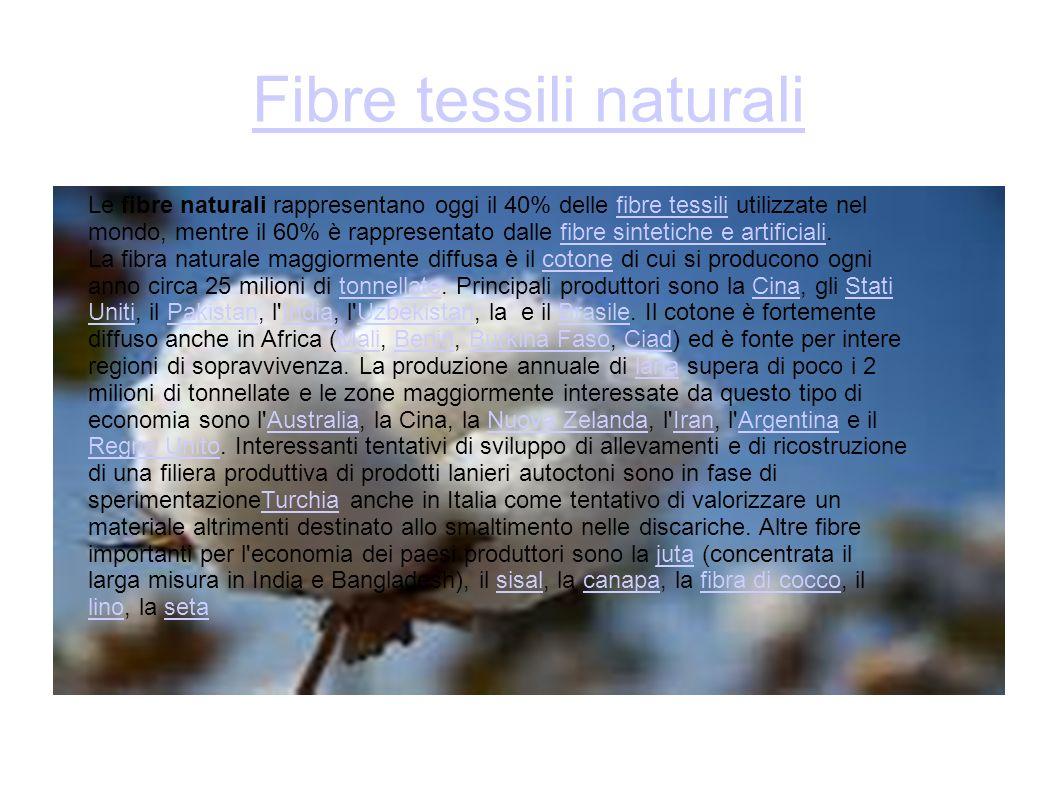 Fibre tessili naturali