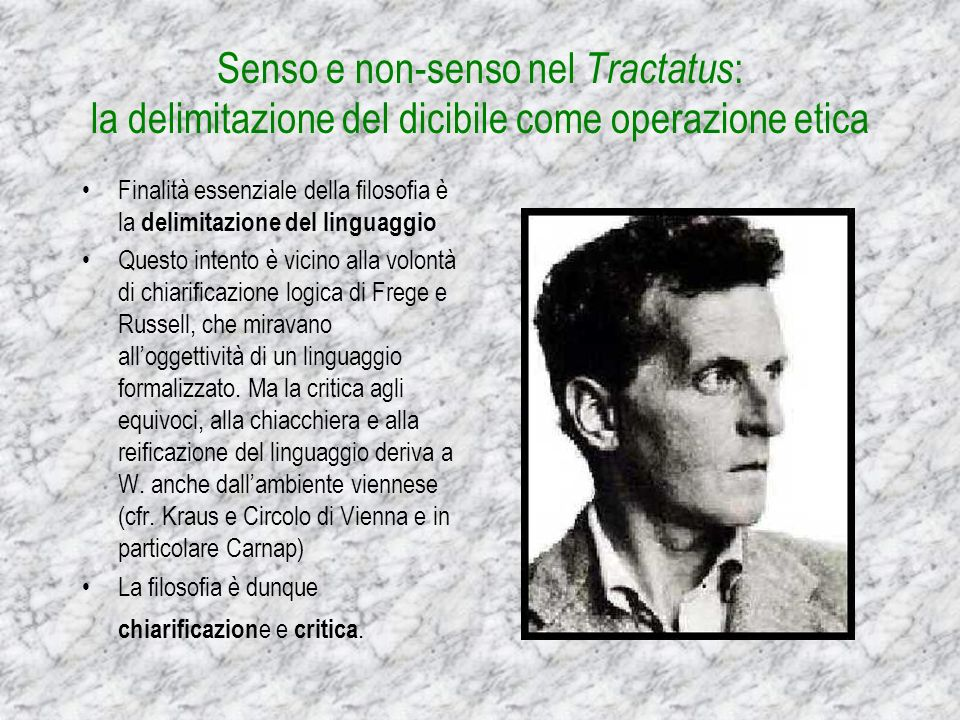 Senso e non-senso nel Tractatus: la delimitazione del dicibile come operazione etica