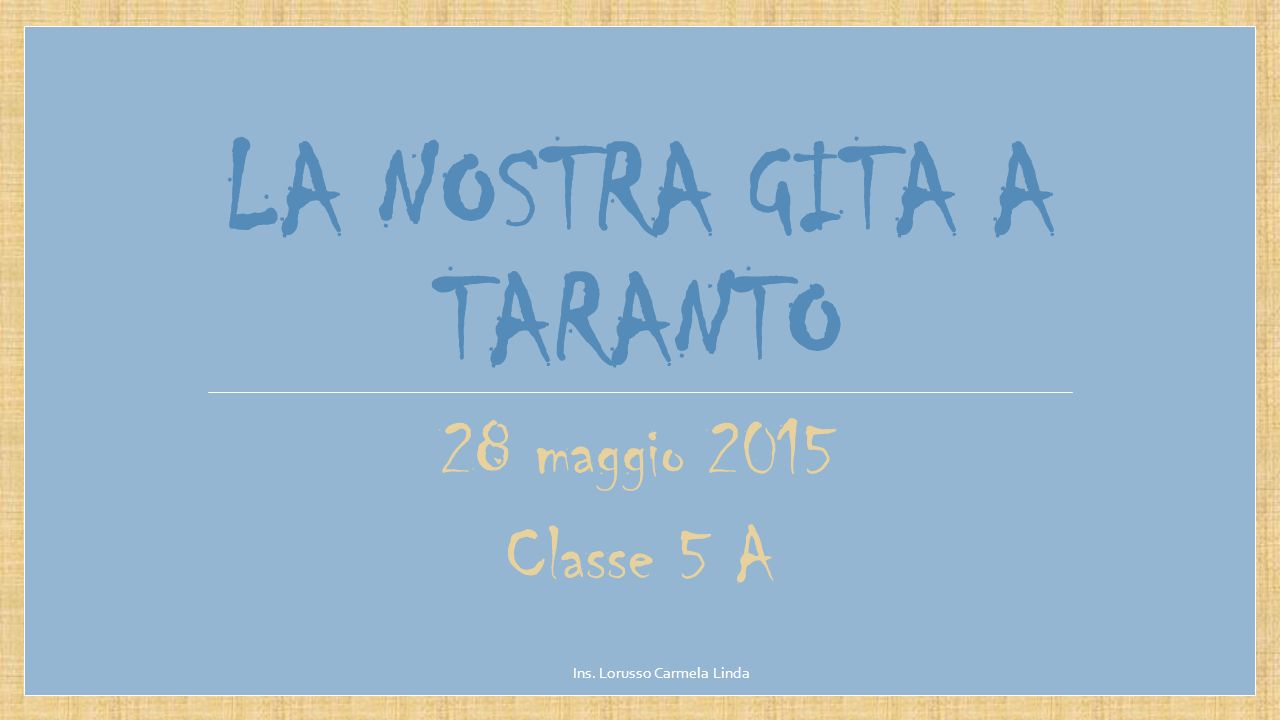La nostra gita a Taranto