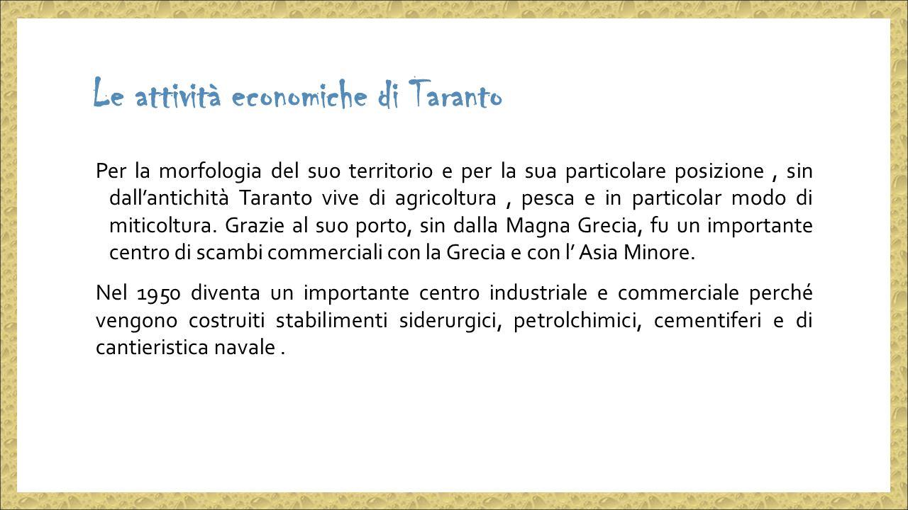 Le attività economiche di Taranto