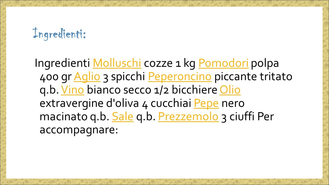 Ingredienti: