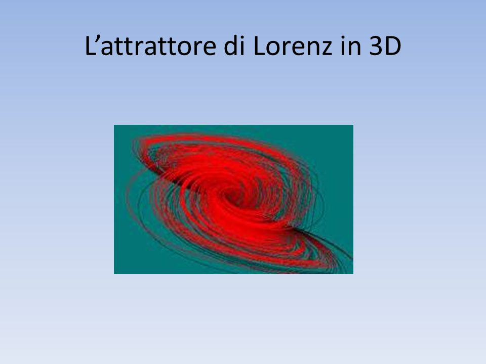 L'attrattore di Lorenz in 3D