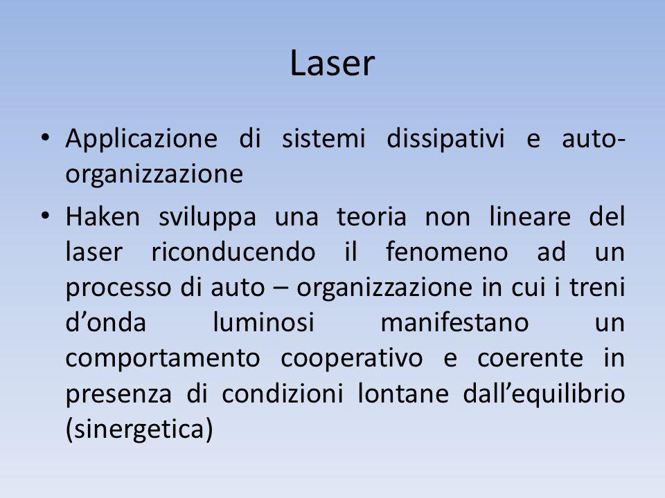 Laser Applicazione di sistemi dissipativi e auto-organizzazione