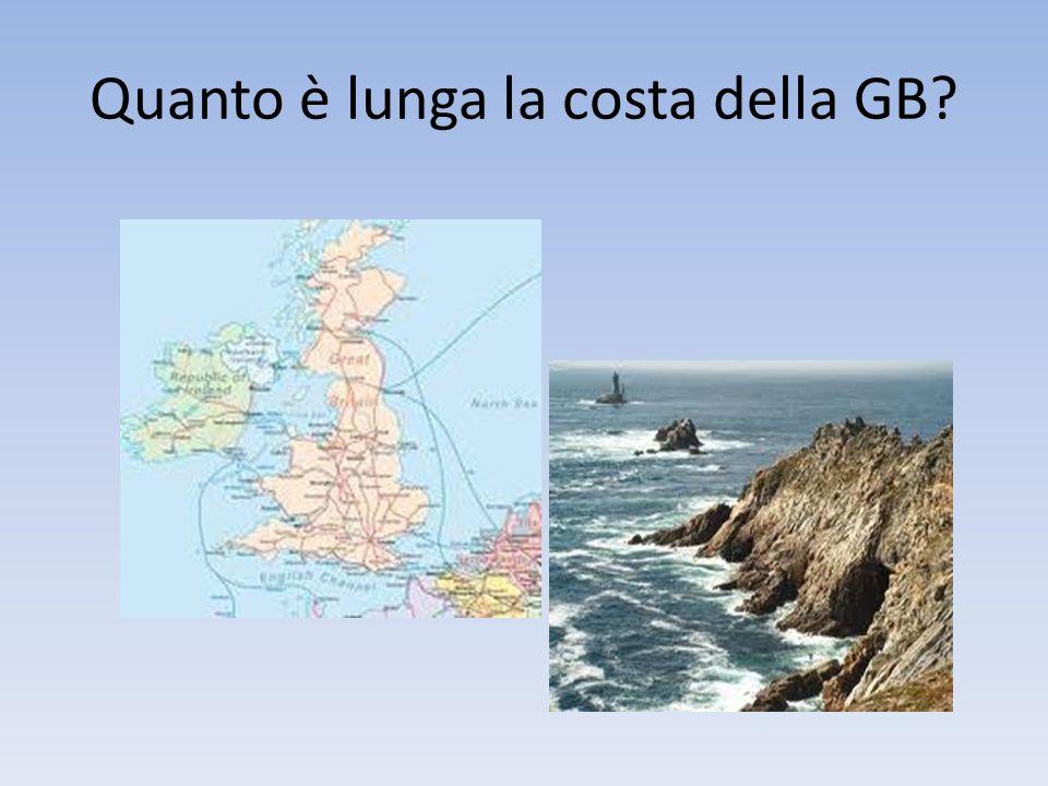 Quanto è lunga la costa della GB
